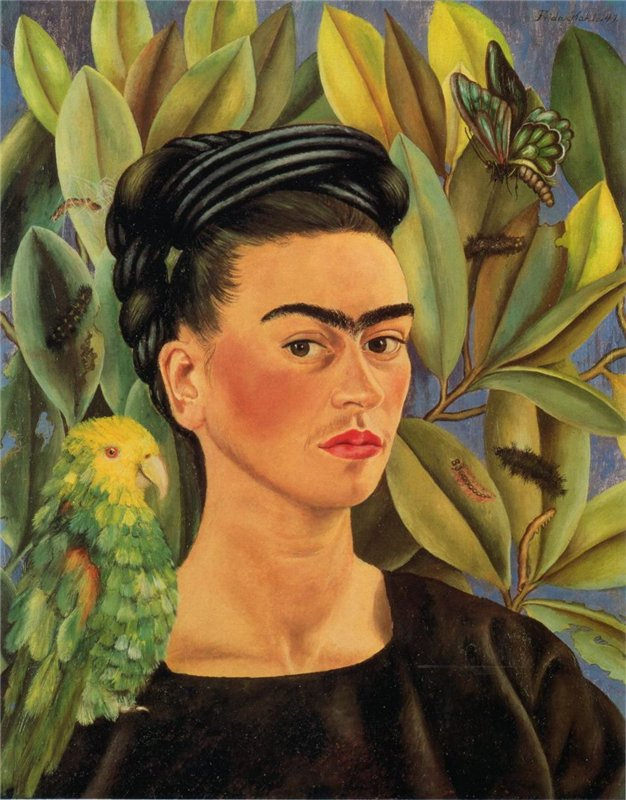 I leave you my portrait so that you will have my presence all the days and nights that I am away from you.  Frida Kahlo