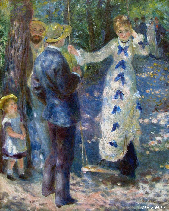 One morning, one of us lacking black,  used blue:  Impressionism was born.  Pierre-Auguste Renoir