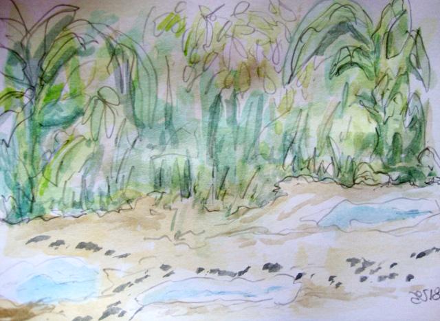 La saison des pluies se terminent, ici et là, des processions de fourmis. Masaoka Shiki