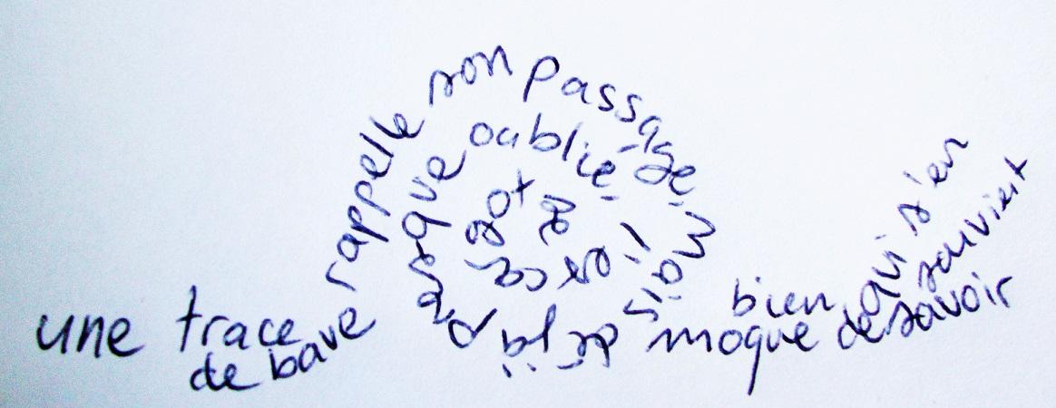L'escargot, Calligramme, 27 juillet 2019