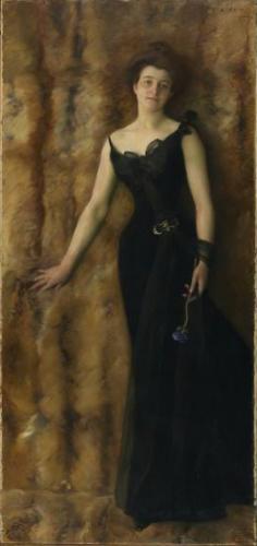 Portrait de Mme Soldati par Charles Giron 1900 – Un Tanka s'il vous plaît !