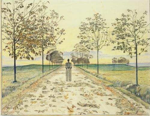 Sur la blancheur brodée des adieux la rosée est tombée, dans la couleur d'un vent d'automne qui nous glace le coeur. Fujiwara Sadaie (1162-1241)