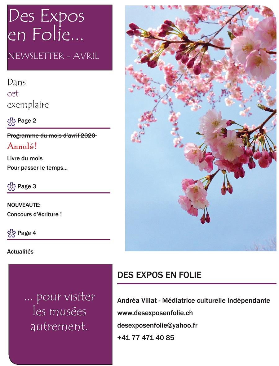 La newsletter d'AVRIL est en ligne !
